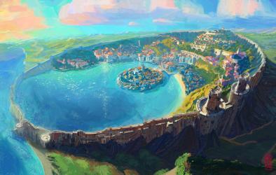 Fantasy Architecture Fantasy Art Fantasy City Concept Art City Cityscape Ze Hai Liu XorVeil Sao Lous Wallpaper Resolution:1600x1015 ID:686761 wallha com