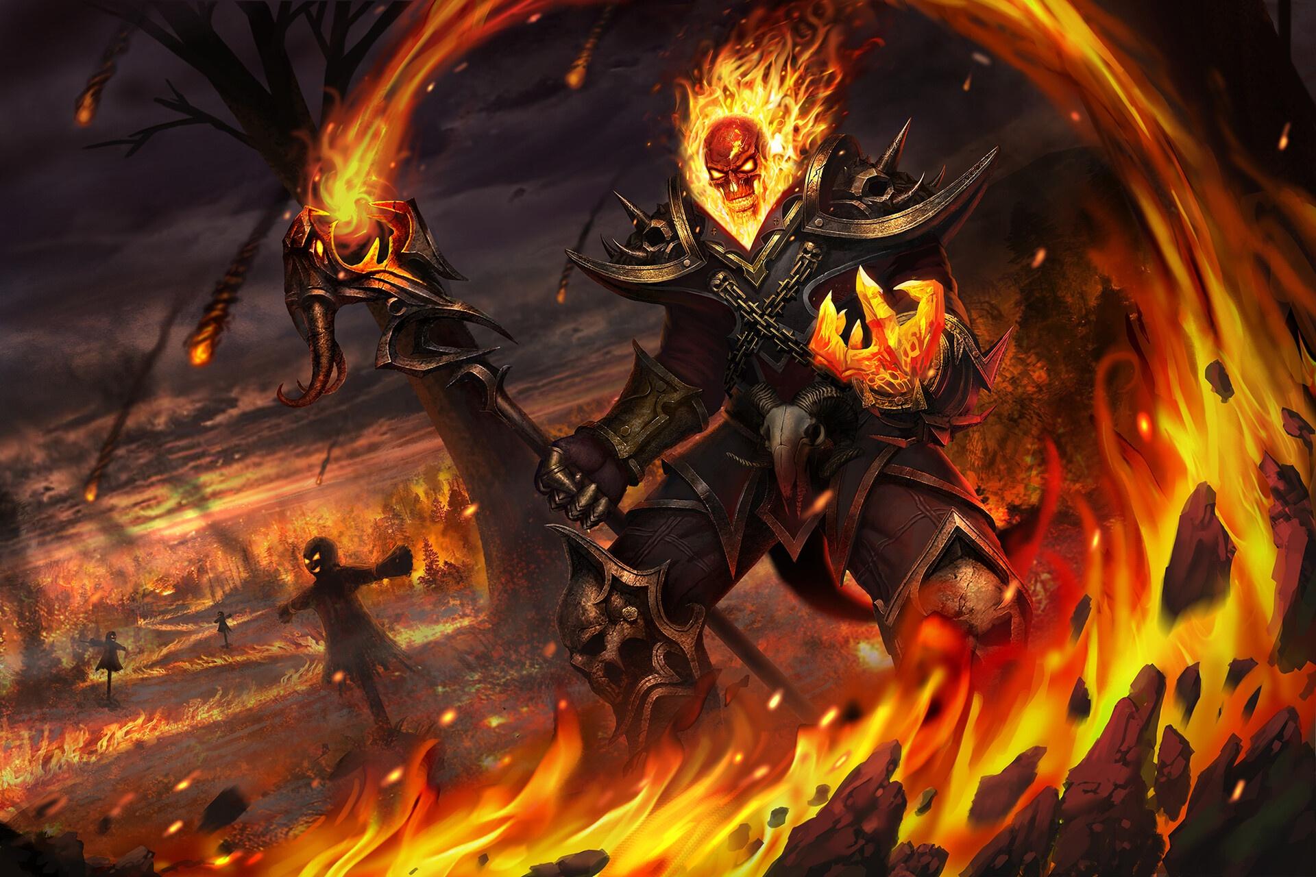 fantasy art artwork fire