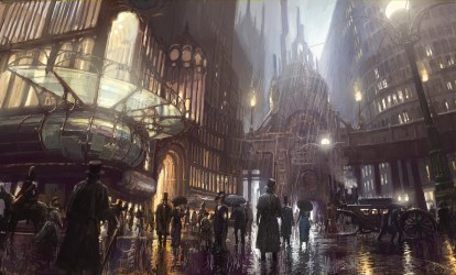 steampunk city artwork concept art fantasy art 1600x964 Wallpaper wallhaven cc