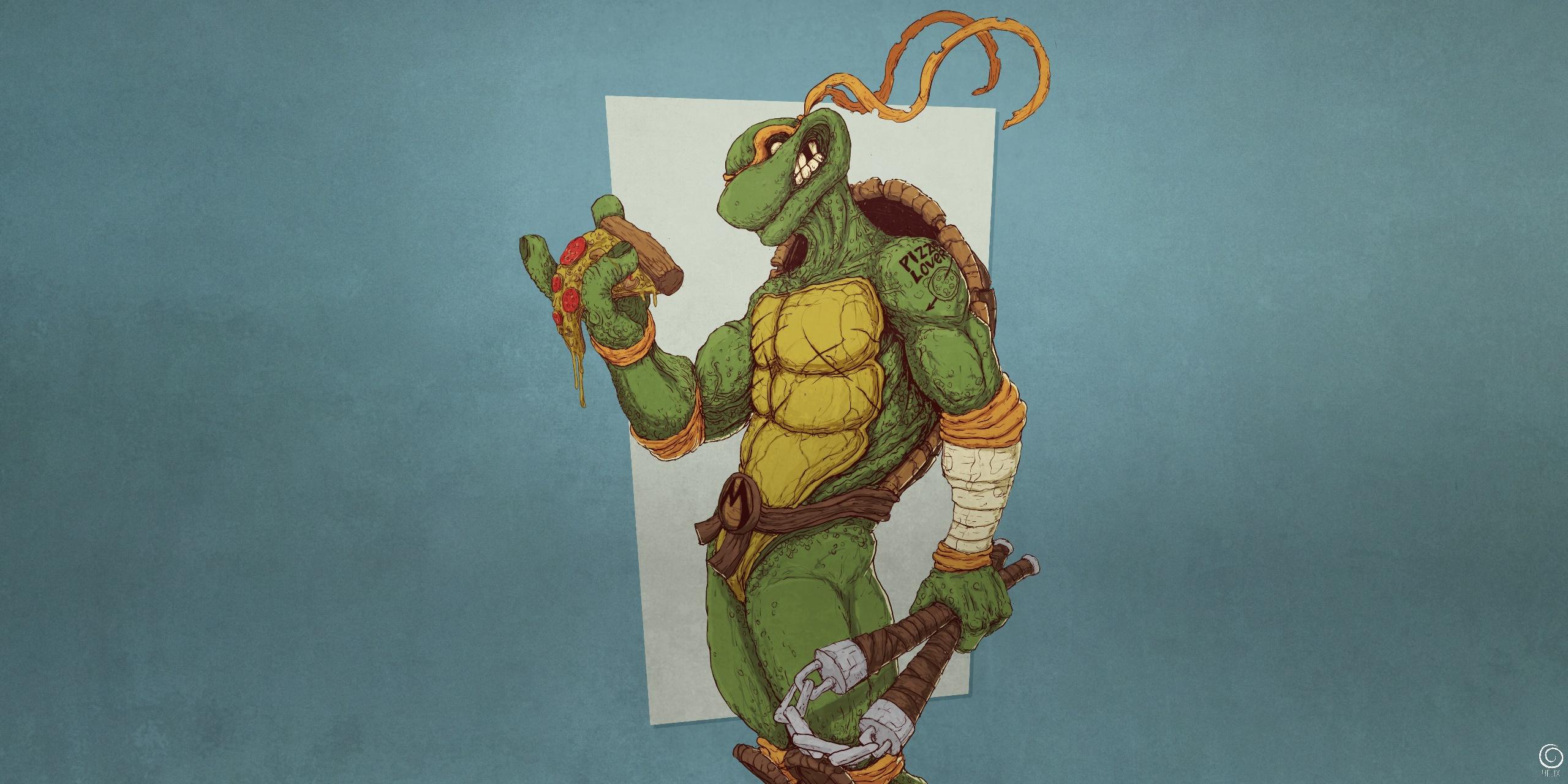 Teenage Mutant Ninja Turtles Pizza Wallpaper Novocom Top