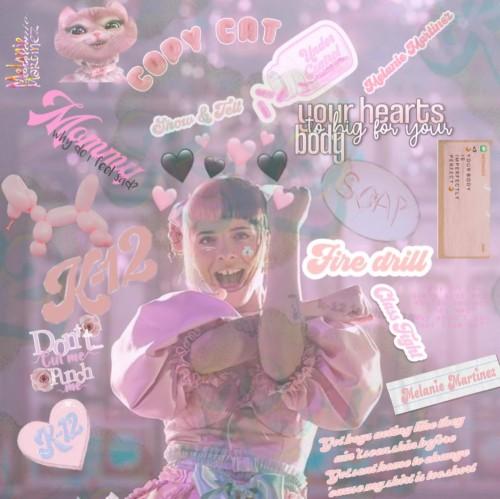 melanie martinez tapete rosa poster