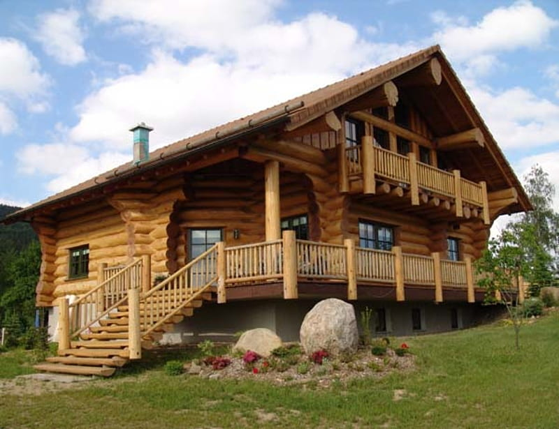 Cucine in legno grezzo 2021. Birch Mountain House Mountains Sky Clouds Grass Houses Rocks Hd Wallpaper Peakpx
