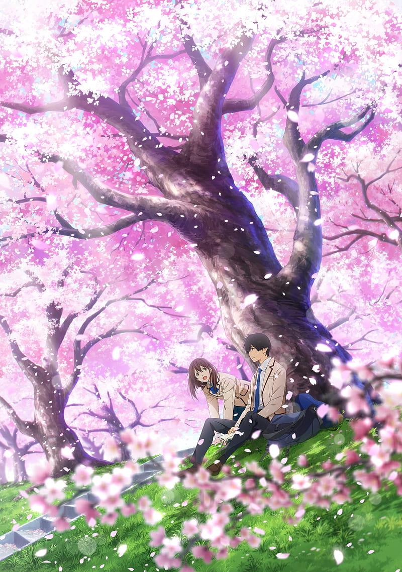 Yamauchi Sakura Kimi No Suizou Wo Tabetai Sakura Blossom Petals Bloom Cherry Hd Mobile Wallpaper Peakpx