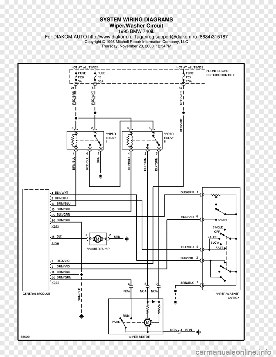 1995 BMW 740iL Car BMW 7 Series (E38) Wiring diagram, bmw