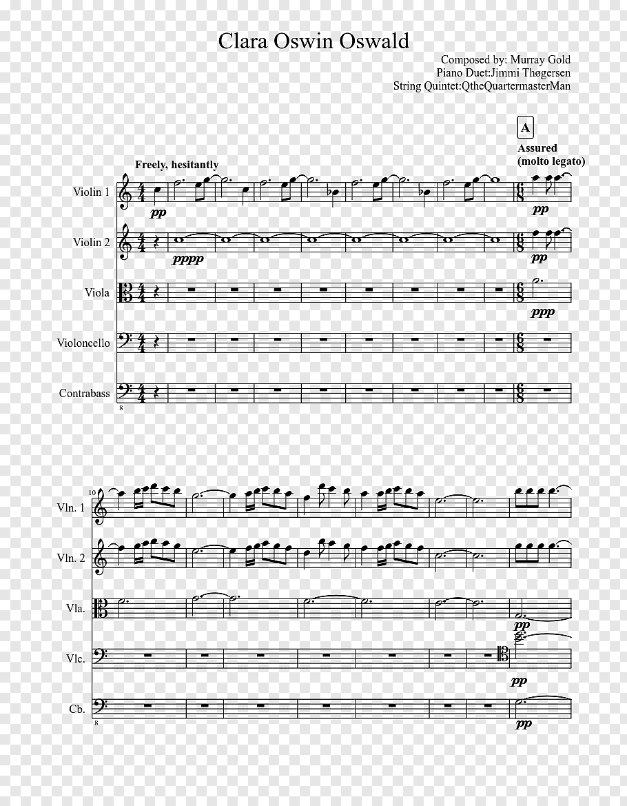 Music Sheet Collection: A Thousand Years Violin Cello Duet