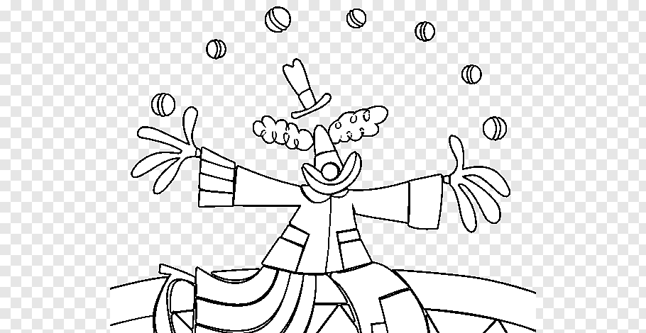 Drawing Clown Juggling Circus Coloring Book Clown Coloring Pages Png Pngwave