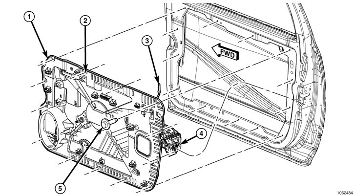 Service manual [2010 Dodge Nitro Door Panel Removal