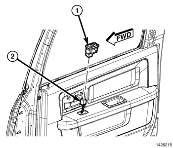 Service manual [Removal Of Passenger Window Switch 1997