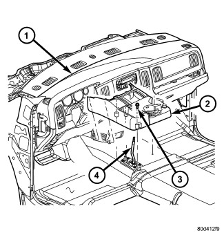 Procedure on removal of the ac unit under dash in 2006