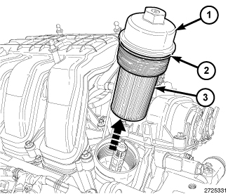 Where is oil filter for 2011 town and country?