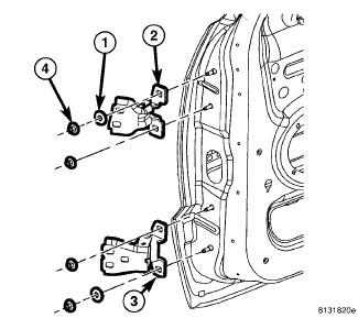 Jeep Grand Cherokee: it to change a upper door hinge