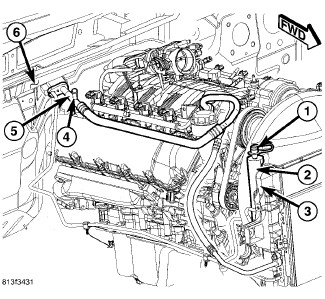 2007 Jeep Cherokee: the low pressure a/c port