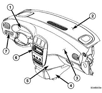 2006 Dodge caravan: a left hand rearview mirror..tracing