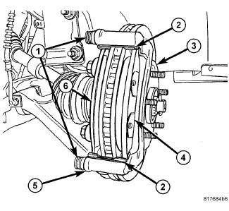 2006 chrysler pacifica: trying to change the front brakes