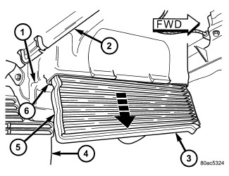 How do you locate access door on 2006 Chrysler town & country