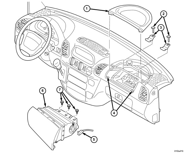 Service manual [2000 Dodge Ram 2500 Airbag Cover Removal