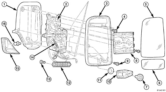 Service manual [Removing Mirror From A 2012 Mercedes Benz