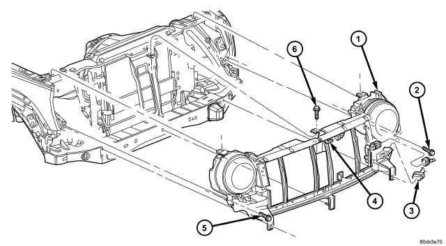 2006 Jeep Liberty: diagrams on how the front end body