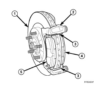 2007 Chrysler sebring: front calipers..the bolts that..shaft