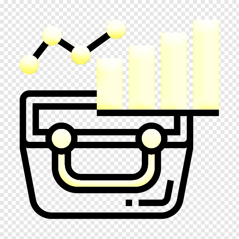 Analysis Icon Business Analytics Icon Basket Icon Yellow Line Png Pngwave