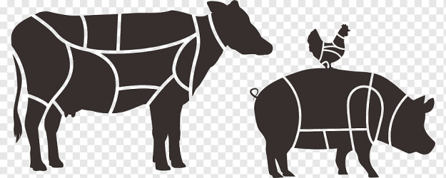 Family Silhouette Meat Butcher Restaurant Food Sirloin Steak Menu Beef Meat Butcher Restaurant png PNGWing