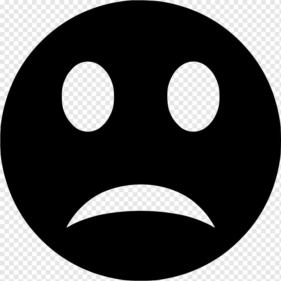 Emoji Black And White Emoticon Smiley Disappointment Face Black And White Head Line Emoticon Smiley Emoji Png Pngwing