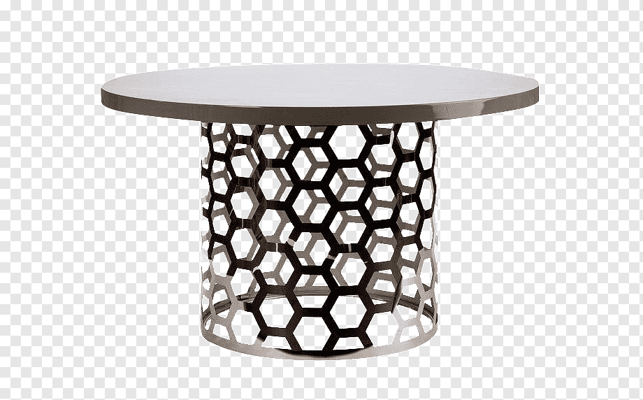 silver table dining room metal