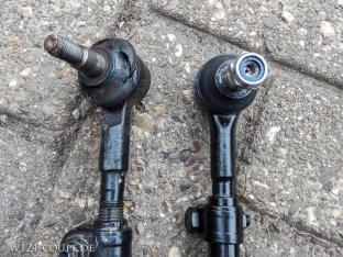 Vergleich alter / neuer Spurstwangenkopf (Meyle von TE-Taxiteile)
