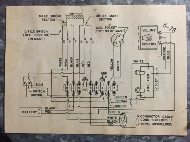 astatic d 104 lollipop mic restoration w1rcp comt ug8 wiring diagram