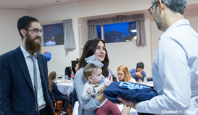 The Feldmans traveled to Reykjavik in December to celebrate Chanukah with the Jewish community.