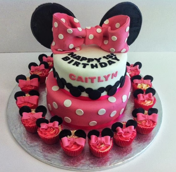 Minnie Mouse Tiered Birthday Cake Quality Cake Company
