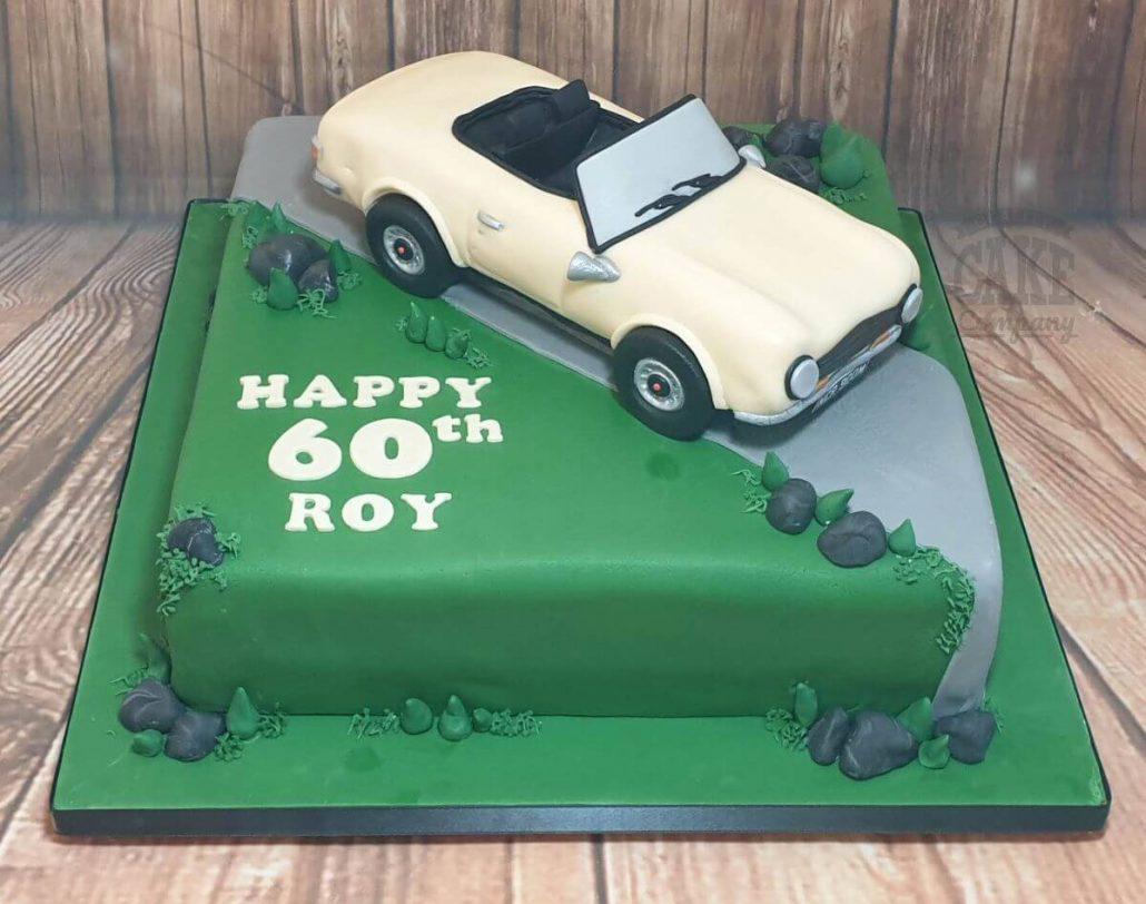 This cake also features a fun spiral tier technique which would work for all sorts of themes! 60th Birthday Cakes Quality Cake Company Tamworth