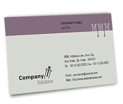 Business Card Design for Company Hosting Offset or Digital printing