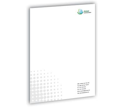 Letterhead Design for Global Communication Systems Offset