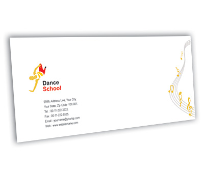 Envelope Design for Dance School Offset or Digital printing