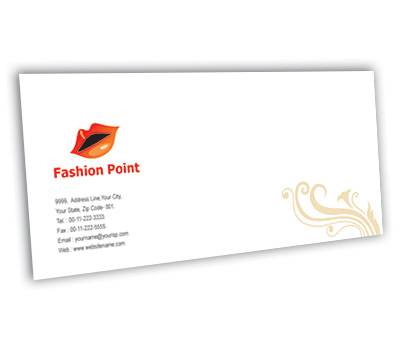 Envelope Design for Fashion Point Offset or Digital printing