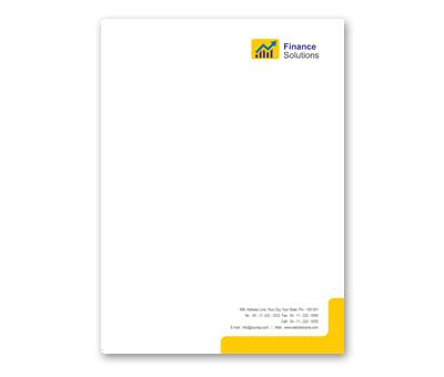 Letterhead Design for Financial Services Offset or Digital