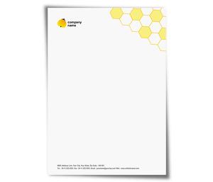 Online letterhead printing, Upload or use free letterhead