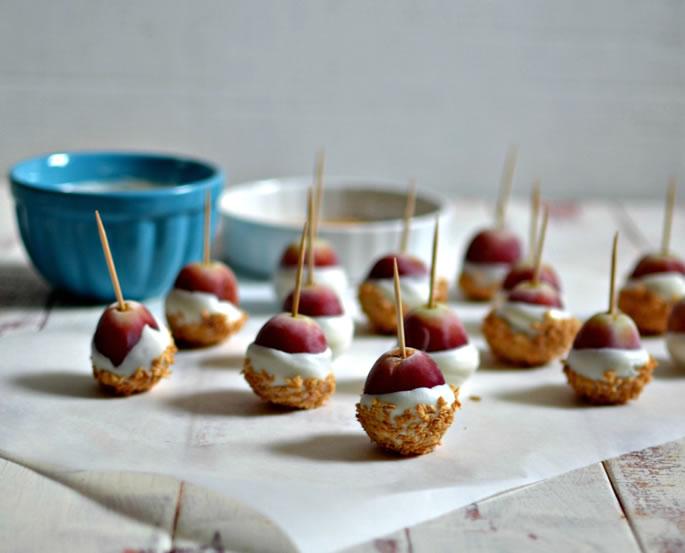 Frozen Yogurt Grapes  Compote  Fruit Desserts  Kosher