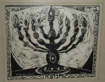 Image result for lighting the hanukkah candles painting
