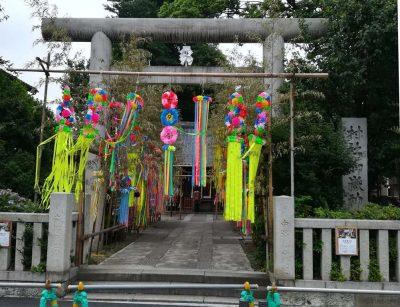七夕飾り 池袋御嶽神社
