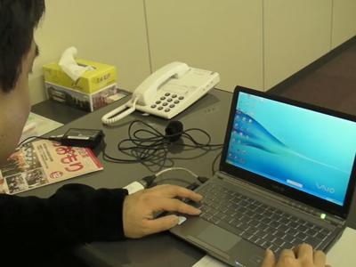 画像:板橋さんPC操作の様子
