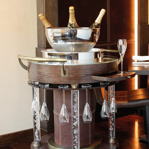 Luxury Champagne Trolley design for Heston  W3 Design