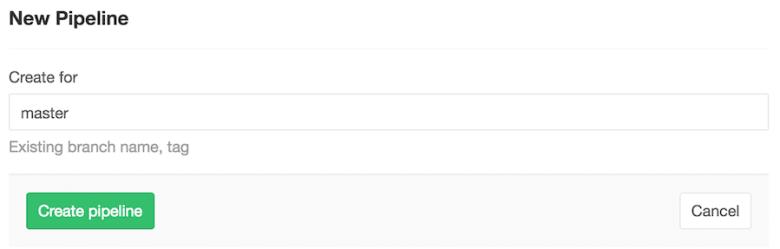Create new GitLab CI pipeline