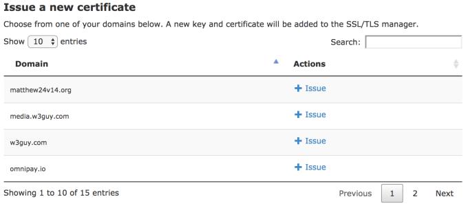 Issue LetsEncrypt certificate