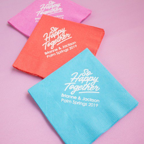 Where to Buy Personalized Napkins for Weddings  How Many