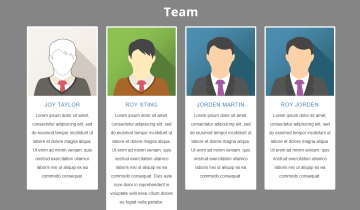 Bootstrap Team Page Section