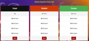responsiveprice table with html5 and css3