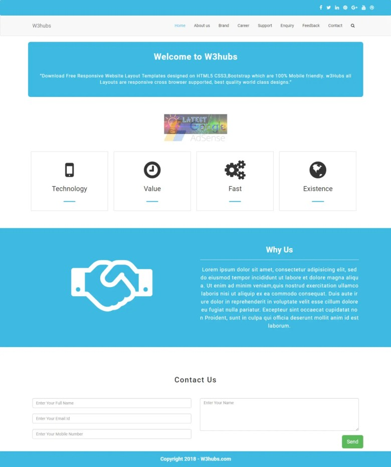simple business template with php