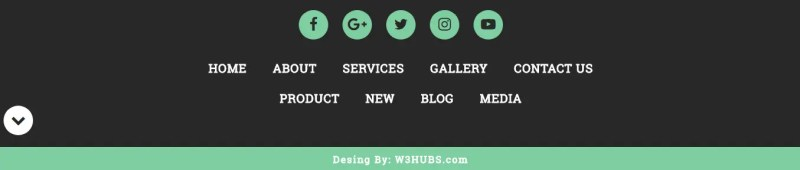 Simple Footer In Html5 and Css3